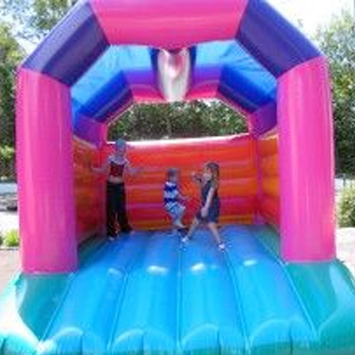 A Frame Multicoloured Bouncy Castle