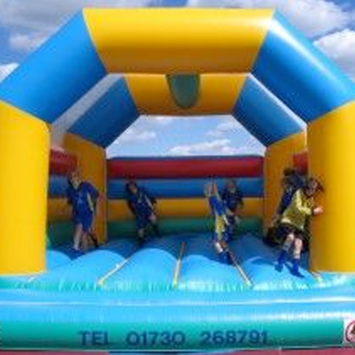 Large A Frame Multicoloured Bouncy Castle