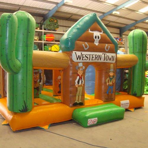 Western-Themed Bouncy Castle