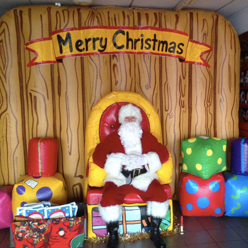 Christmas Cabin Wall Inflatable
